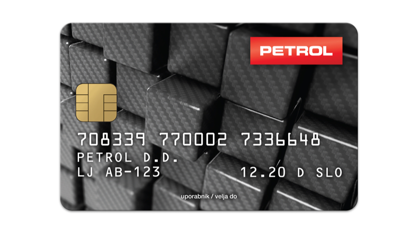Grey Business Card Petrol